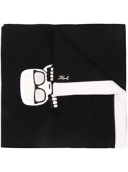 Karl Lagerfeld Ikonik Pocket Scarf Black