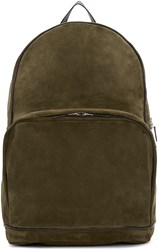 Umit Benan Green And Brown Suede City Backpack