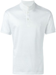 Alexander Mcqueen Embroidered Skull Polo Shirt White