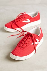 Anthropologie Tretorn Red Canvas Sneakers