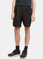 Kolor Crocodile Textured Shorts Black