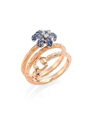 Gucci Flora Ring Rose Gold Sapphire