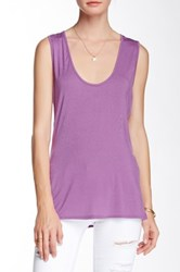 Riller And Fount Terry Slit Side Cutout Back Tank Purple