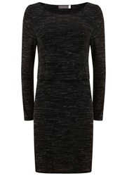 Mint Velvet Black Marl Layered Tunic