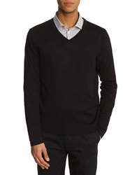 Filippa K Fine Merinos Navy V Neck Sweater