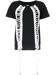 Ktz Lace Up T Shirt Black
