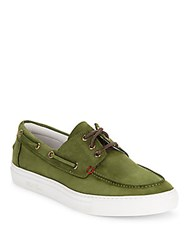 Del Toro Suede Boat Shoes Hunter Green