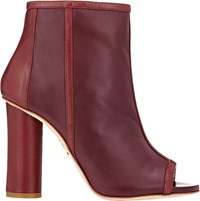 Maiyet Open Toe Ankle Boots Red