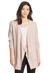 Petite Women's Nic Zoe Long Mix Stitch Cardigan Pink Pearl Heather