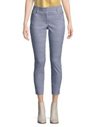 Ivanka Trump Checkered Crop Pants Navy White