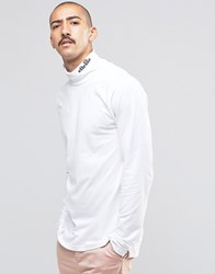 Ellesse Long Sleeve T Shirt With Turtle Neck White
