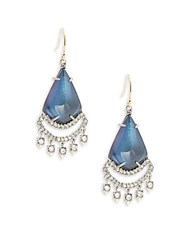 Alexis Bittar Dangling Crystal And Lucite Teardrop Pendant Earrings Blue