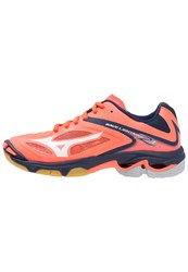 Mizuno Wave Lightning Z3 Volleyball Shoes Fiery Coral White Dress Blues