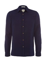 White Stuff Men's Riviera Long Sleeve Shirt Navy