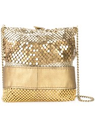 Laura B Ruffle Party Bag Metallic