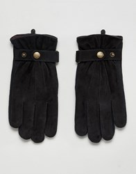 Dents Chester Suede Gloves Black