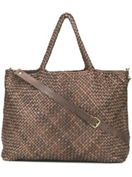 Officine Creative Woven Large Tote Brown