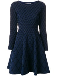 Antonino Valenti Flared Knitted Dress Blue