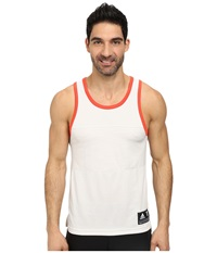 Adidas Team Speed Tank Pearl Grey Bright Red Men's Sleeveless White