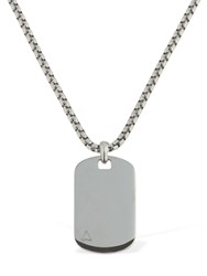 Northskull Ns Id Tag Chain Necklace Silver