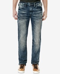 Buffalo David Bitton Men's Evan X Slim Fit Stretch Jeans Contrasted And Sanded