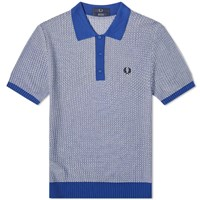 Fred Perry Knit Polo White