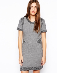 By Zoe Bodycon Dress With Contrast Panels Storm