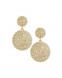 Lydell Nyc Pave Disc Drop Earrings