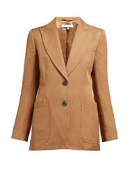 Bella Freud Monte Carlo Single Breasted Blazer Camel