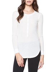David Lerner Maddisson Long Sleeve Henley Shirt White