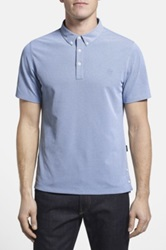 Ag Jeans Green Label 'The Links' Short Sleeve Polo Blue