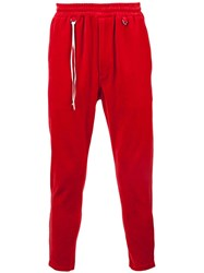 Mastermind Japan Velour Joggers Red