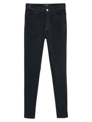 Mango Corduroy Slim Fit Trousers Black
