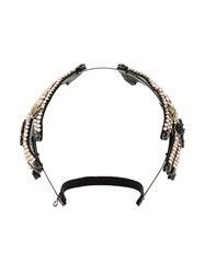 Gucci Crystal Embellished Hand Hairband Women Leather Brass Metal One Size Pink Purple