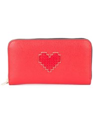 Les Petits Joueurs 'Lolita' Continental Wallet Red