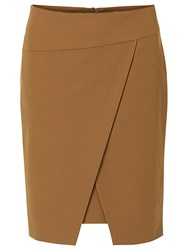 Betty Barclay Wrapped Pencil Skirt Dark Brass