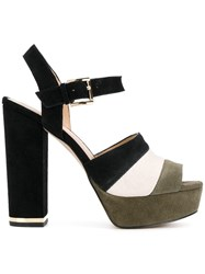 Michael Michael Kors Colour Block Platform Sandals Multicolour