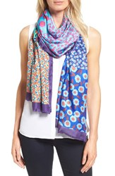 Kate Spade Women's New York Tangier Floral Tissue Weight Silk Oblong Scarf