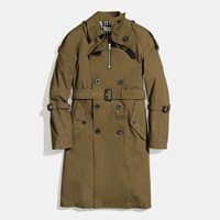 Coach Strapped Raincoat Military