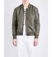 Closed Shell Bomber Jacket Green