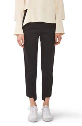Topshop Women's Boutique Step Hem Wool Cigarette Trousers Black