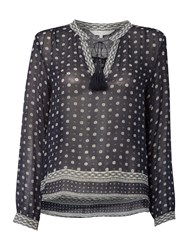 Part Two Printed Blouse Navy