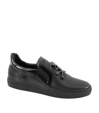 Philipp Plein Skull Badge Slip Ons Male Black