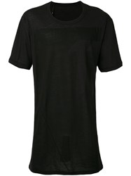 11 By Boris Bidjan Saberi Block Print T Shirt Men Cotton Cashmere M Black