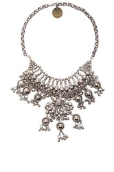Child Of Wild Moon Dweller Indian Necklace Metallic Silver
