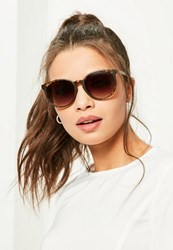 Missguided Brown Tortoise Shell Club Sunglasses