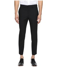 Mcq By Alexander Mcqueen Peg Leg Trouser Darkest Black Men's Casual Pants