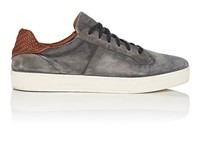 Ermenegildo Zegna Bny Sole Series Vulcanizzato Burnished Suede Sneakers Gray