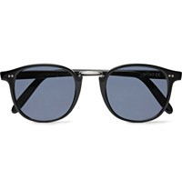 Cutler And Gross Round Frame Acetate Silver Tone Sunglasses Black
