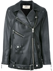 Urbancode Leather Effect Jacket Grey